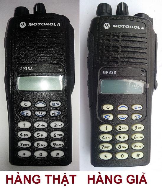 Phân biệt máy bộ đàm Motorola GP 338 thật giả